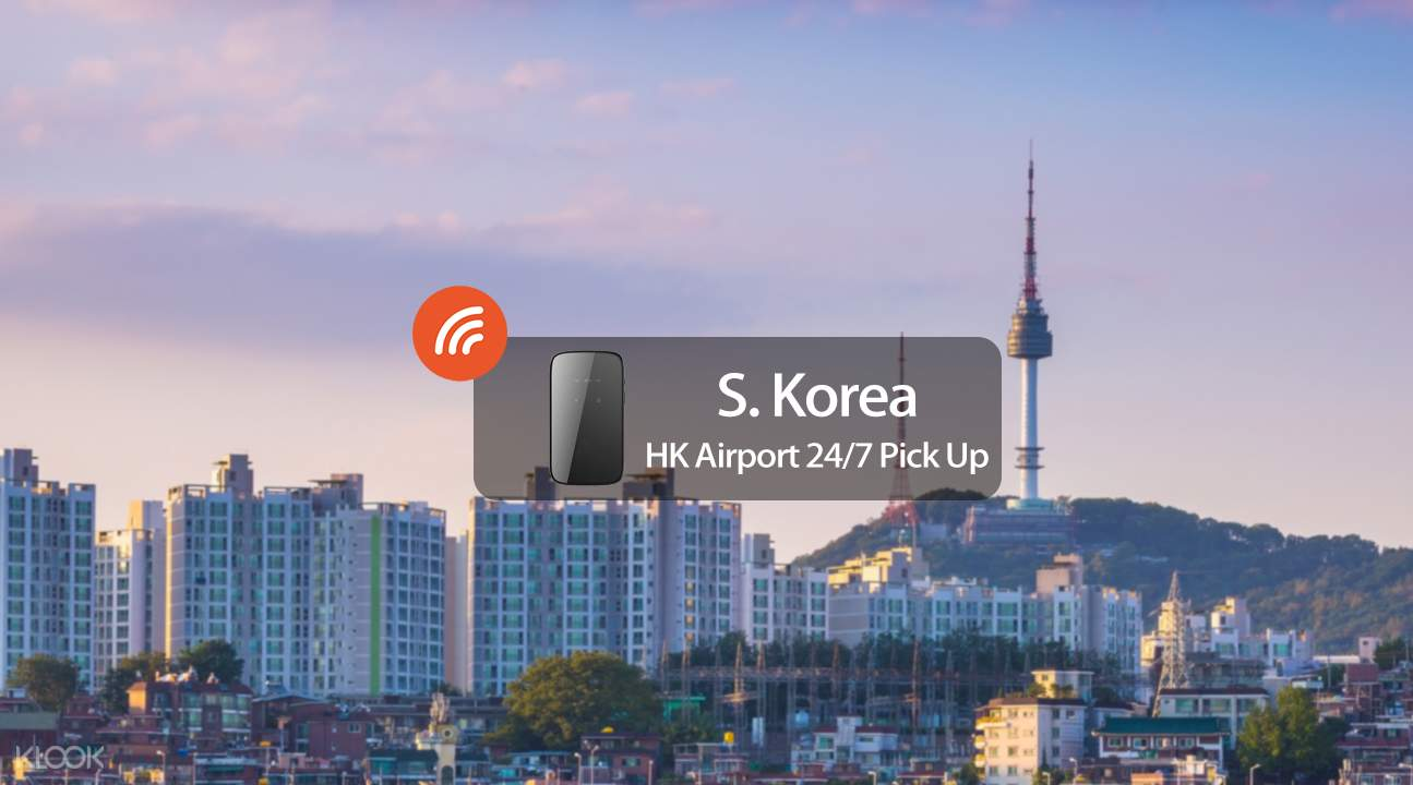 South Korea 4g wifi hk international airport pickup